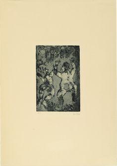 Joy In Life. etching.  Emil Nolde