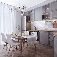 Какой цвет кухни вам больше всего нравится?1 или 2? . . Автор : Студия Дизайна Екатерины Торбы