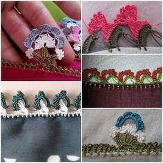 Bu galerimizde de siz değerli ziyaretçilerimiz için Tığ İşi Tülbent Oya Örnekleri derledim. Hepsi tek kelime muhteşem Crochet Flowers, Crochet Earrings, Projects To Try, Brooch, Floral, Jewelry, Manualidades, Jewlery, Jewerly