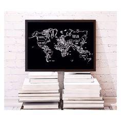 """The world is a book, and those who do not travel read only a page"" Mapa disponible en 4 colores! www.muguetshop.com #muguetshop #MuguetTravelMap #decoideas #decoracion #decoration #mapamundi #worldmap #map #world"