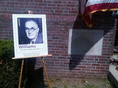 So proud today to be part of the unveiling of the new Forever stamp for my great-grandfather William Carlos Williams! Thank you USPS! ~ Deb