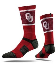 Strideline Oklahoma Sooners Crew Socks Ii - Red L