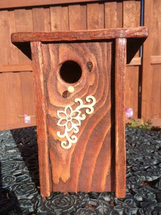 Nice classy rustic style!  Rustic Bird House  Cedar Birdhouse  Functional AND by ChateauKoyo, $23.00