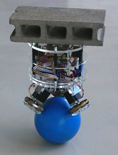 Students in Japan Create a Robot That Can Balance on a Ball - via RocketNews24
