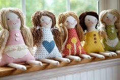 Handmade Cloth Doll Bonnet Prairie Bonnet Doll Hat by thebuslbarn