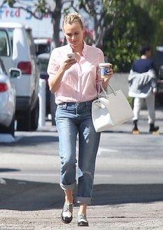 Natural beauty: Make-up free Diane Kruger was seen leaving an office building in West Hollywood, California on Friday