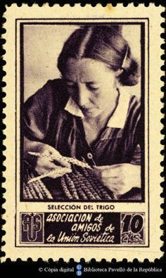 Spanish Civil War Stamp: Association of Friends of the Soviet Union San Diego Library, Spanish Posters, Postage Stamp Collection, Balearic Islands, Soviet Union, Stamp Collecting, Barcelona, Postage Stamps, War