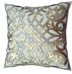 Gold Cut Out Hairon Hide Pillow - Accessories - Pillows