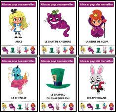 Jeu des sept familles des contes traditionnels : Alice au pays des merveilles Grande Section, Petite Section, Disney Pixar, Fairy Tales, Wonderland, Animation, Activities, Holiday Decor, Kids
