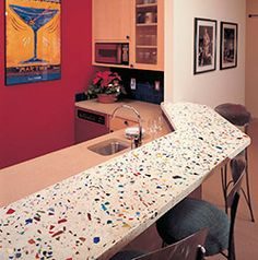Concrete Countertop With Recycled Glass Aggregate. Contractor: Allen  Miller, Concrete Revolution, Denver