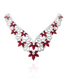 Fleurs Mystérieuses necklace, 2011, Bals de Légende collection Image 7 - Van Cleef & Arpels.  What if you could wear this for one 24 hr. period?