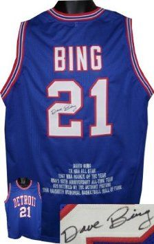 Dave Bing signed Detroit Pistons Blue Prostyle Jersey w  Embroidered Stats.  Available through our 561b1273f