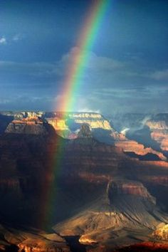 The storms that buffeted the Valley over the weekend moved north and drenched the Grand Canyon National Park. As the storms cleared out, they left a rainbow that stretched from rim to rim.