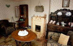 Frozen in time: This is the living room of a home in Warwickshire which has barely changed since the 1940s                                                                                                                                                                                 More