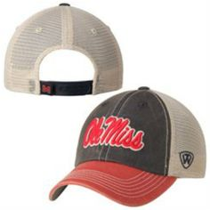 low priced f03d7 2bc3a Ole Miss Rebels Top of the World Navy Red Offroad Adj Snapback Hat Cap