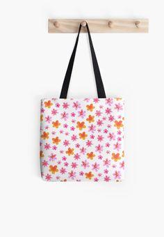 'Watercolor summer flowers pattern' Tote bag by TastefulDesigns