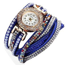 Shensee Women Pearl Scale Bracelet Quartz Wristwatch Crystal Watch,Dark Blue. Sytle:Fashion casual. Dial board diameter:2.5cm=/0.98inch. Strap length:39cm=13.3.6inch width:0.8cm=0.31inch. It is a good gift for your lover,family,friend and coworkers. Special design and unique structure, a popular item.
