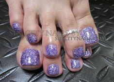 Purple glitter gel toes delish in 2019 ногти, педикюр Glitter Toe Nails, Purple Toe Nails, Gel Toe Nails, Gel Toes, Feet Nails, Purple Glitter, Toenails, Purple Toes, Purple Pedicure