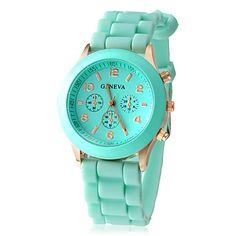 correa de silicona de moda reloj de las mujeres – USD $ 5.99