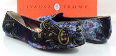 Women's Shoes Ivanka Trump KENNI 2 Slip On Loafers Dark Blue Fabric #IvankaTrump #LoafersMoccasins #Casual