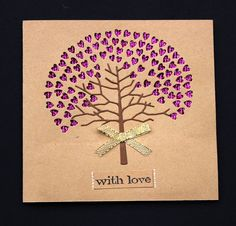 Handmade Card With Love by CardamomsArt on Etsy, $3.68