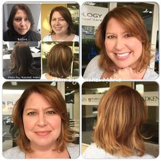 The pic on the left was the first time Kim came to me. She had wanted a natural look, and loved it but wanted to be lighter this time.  Hair painting also know as balayage is one of the hottest trends for hair today! Call 352-505-6161 to make an appointment.. Text 386-466-5848. #handpaintedhair #redken #redkenelite #naturallookinghaircolor  #balayage #gainesvillesalon #bestsaloningainesville #pureology #salon5402 #redkenobsessed #styleyourstory #notaboxblonde #blondehair #summerhair…