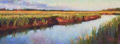 Morning Over The Marshes pastel 8 x 23""
