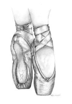 Resultado de imagen de ballet shoes art step by step