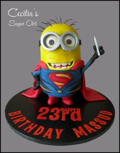 Minion of Steel Cake - made for my sons friend