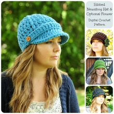Crochet Hat Pattern Crochet Pattern Ribbed by SimplyMadeByErin