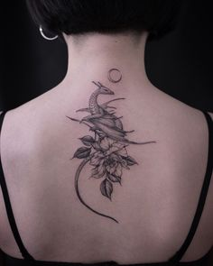 Uploaded by Horváthová Patrícia. Find images and videos about tattoo, flower and moon on We Heart It - the app to get lost in what you love. dragon tattoo Image about tattoo in My stile 🌻 by illy_herondale Small Dragon Tattoos, Dragon Tattoo For Women, Chinese Dragon Tattoos, Dragon Tattoo Designs, Small Tattoos, Dragon Tattoo With Flowers, Cute Dragon Tattoo, Back Tattoos, Foot Tattoos
