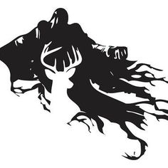 Harry Potter Stag Patronus and Dementor Silhouette Decal Sticker from stickEdecals on Etsy. Saved to Decals. Harry Potter Clip Art, Harry Potter Stencils, Harry Potter Dementors, Images Harry Potter, Theme Harry Potter, Harry Potter Diy, Harry Potter Hogwarts, Harry Potter Silhouette, Hogwarts Silhouette