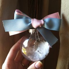 Angel Wing Memorial Ornament Pregnancy And Infant Loss ~ love the idea of the charm, and the bow on top! Could do different colours for different causes (yellow for cancer, etc) Winter Christmas, Christmas Crafts, Christmas Ideas, Infant Loss Awareness, Pregnancy And Infant Loss, Child Loss, Memorial Ornaments, Baby Memories, Diy And Crafts
