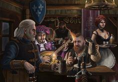Witcher fan art, Dmitriy Soloviov on ArtStation at https://www.artstation.com/artwork/l6KDY