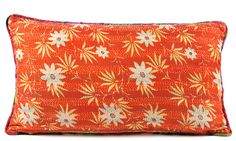 """Silk Kantha Pillow 