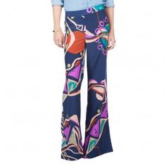 Wide Leg Patterned Pant
