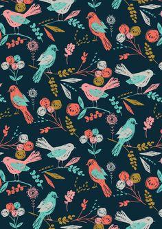 bloom birds Art Print