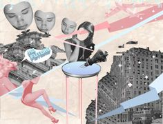 NO FUTURE by obscure design, via Behance collage illustration art Collage Illustration, Collage Art, Collages, Modern Art, Behance, Layout, Digital, Gallery, Future