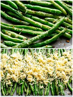 How To Cook Green Beans parmesan Cheesy Roasted Green Beans Oven Green Beans, Oven Roasted Green Beans, Baked Green Beans, Cooking Fresh Green Beans, Parmesan Green Beans, Garlic Green Beans, Green Beans And Potatoes, Roasted Veggies In Oven, Vegetable Dishes