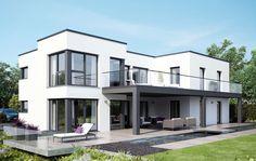 Elegantes und repräsentatives Zweifamilienhaus - Das große und repräsentative Zweifamilienhaus CELEBRATION 282 bietet in den beiden gleich geschnittenen Wohnungen im Erd- und im Obergeschoss...