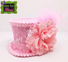 Pretty in Pink Vintage Mini Top Hat
