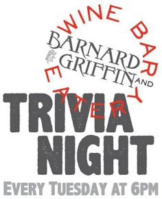 Trivia Tuesdays in the Barnard Griffin Wine Bar and Eatery - Syndical - http://syndical.com/blog/trivia-tuesdays-in-the-barnard-griffin-wine-bar-and-eatery-syndical-10/