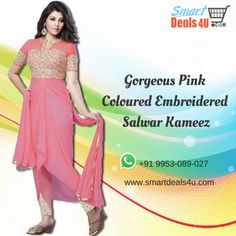 Gorgeous Pink Coloured Embroidered Salwar #Kameez !! #suits  #Fashion  #Wedding  #Salwar  #SalwarSuits  #Women  Whats App :- 91-9953089027 FOR BUY CLICK HERE :- Smartdeals4u.com