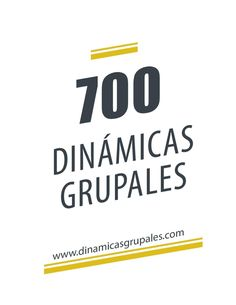 700 dinámicas grupales #EducadorSocial #educarlex