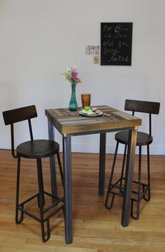 Pallet Wood Pub Table - Crux. $350.00, via Etsy.