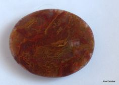 Stunning red blood moss Agate cabochon by RafflesiaGems on Etsy, €500.00