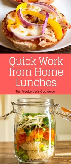 Best work-from-home lunches Top ten easy lunches for freelancers when working from home. All quick to prepare, healthy and delicious! Quick Dinner Recipes, Quick Meals, Great Recipes, Favorite Recipes, Healthy Recipes, Easy Recipes, Healthy Lunches, Healthy Food, Healthy Eating