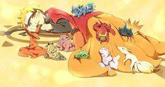 Uzumaki Naruto, Sage Mode, Bijuu, cute, chibi, Tailed Beasts, Jinchuuriki; Naruto