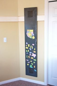 magnetic board with usa states map
