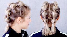 SUPER EASY Gym/Workout Hairstlye for Short Hair | Milabu